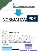 Normalizacion  Base de Datos