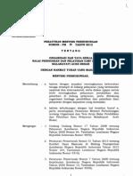 Pm No. 25 Tahun 2012 OTK BP2IP Malahayati Aceh Besar