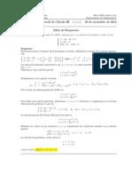Corrección, Segundo Parcial Cálculo III, 26 de noviembre de 2012