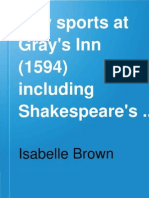 Law Sports at Gray's Inn 1594 (1594) including those by Shakespeare