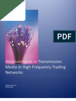 Advancements in Transmission Media in HFT Networks v.p