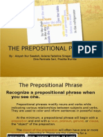 The Prepositional Phrases