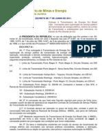 Decreto de 1º-6-2011 - Sul do Brasil