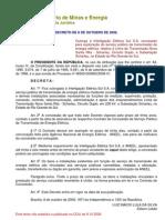 Decreto de 8-10-2008j