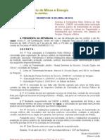 Decreto de 16-4-2012 - CHESF