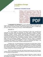 Decreto de 18-3-2009