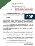 Decreto de 18-9-2007