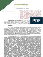 Decreto de 20-4-2005