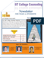NIST College Counseling Newsletter for Year 13 Students November 29, 2012