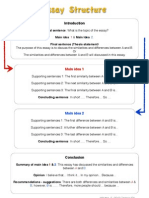 Essay structure plan for compare and contrast