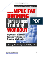 The Sample Turbulence Training Workout