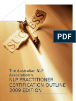 Australian NLP Association Practitioner Level Certification Outline 2009