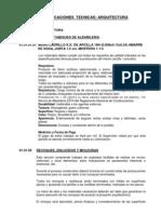 Especificaciones Tecnicas - Estructuras Arquitectura - Programacion de Obra