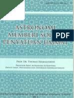 Astronomi Memberi Solusi Penyatuan Ummat Lengkap