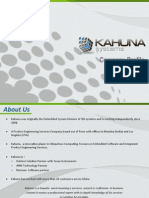 Embedded Product Engineering Services @Kahuna Systems