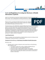 Laws and Regulations Governing the Disclosure of Health Information