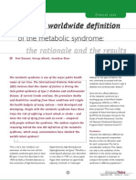 A New IDF Worldwide Definition of the Metabolic Syndrome the Rationale and the
