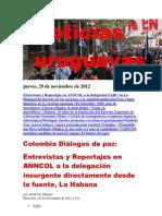 Noticias Uruguayas Jueves 29 de Noviembre Del 2012