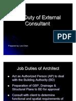Job Duty of External Consultant