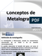 Conceptos de Metalografia