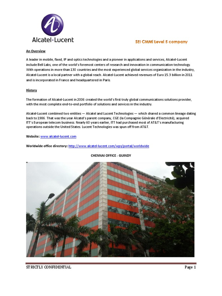 Alcatel Lucent JD   Science And Technology   Technology