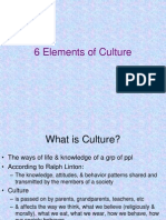 6 Elements of Culture