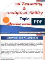 Logical Reasoning and Analytical Ability Statement Assumptions