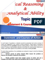 Logical Reasoning and Analytical Ability Statement and Courses of Action