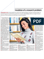 Selection and formulation of a research problem
