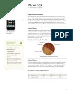 iPhone 3GS Environmental Report