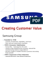 Samsung – Creating Customer Value