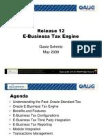Release 12 e Business Tax Engine o Aug