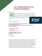 Pentecostales en El Altiplano Boliviano G Riviere