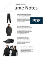 Costume Notes