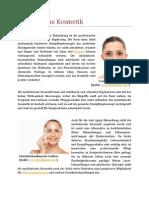 20121129 Aestheso Artikel Medizinische Kosmetik