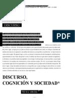 Discurso, Cognición y Sociedad. Van Dijk
