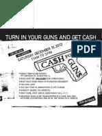 Cash for Guns flier