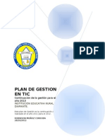 Plan de Gestion en Tic 2013