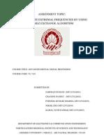 DSP Assignment VLSI 2012