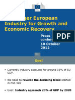A Stronger European Industry for Growth and Economic Recovery
