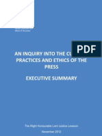 Leveson report executive summary
