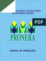 PRONERA Manual de Operacoes