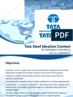 Tata Steel Ideation Contest_Debarghya Chakraborty