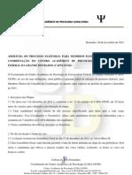 EDITAL N. 01.2012 Eleição CAPsi-UFGD