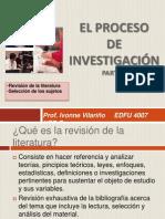 El proceso de investigación Parte 2