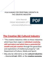 Positioning for Profitable Growth in the Nigerian Creative Industry
