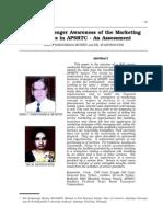 Www.asrtu.org PDF Publication Urban Passenger Awareness of the Marketing Schemes in APSRTC an Assessment