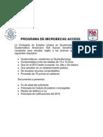 Access Microscholarship program