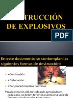 DESTRUCCIÓN DE EXPLOSIVOS