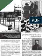 Diptico a 105 años de la Matanza en la Escuela Santa María de Iquique